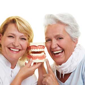 Older Woman and Dentist